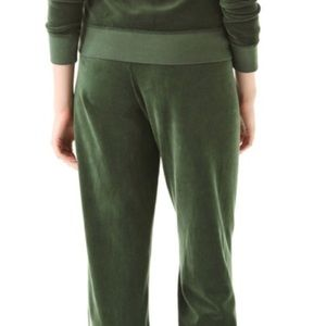 Juicy Couture Green Velour Sweat Pants Tracksuit